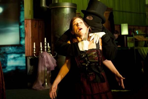 Jack the Ripper bei seinem Verbrechen