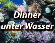Unterwasser-Dinner, Dinner unter Wasser