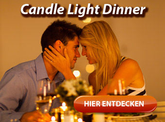 Candle Light Dinner - romantisches Abendessen