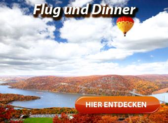 Gourmetflug - Flug und Dinner, Candle Flight Dinner, Dinner-Flug